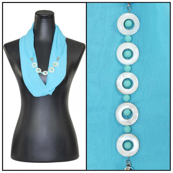 Jewelry Infinity Silky Dress Scarves 8011 - Solid Sky Blue Jewelry Infinity Silky Dress Scarves -