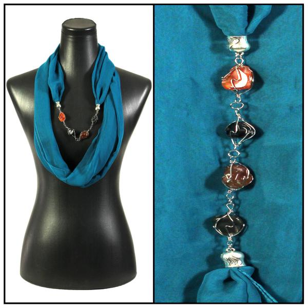 Jewelry Infinity Silky Dress Scarves 8074 - Solid Teal -