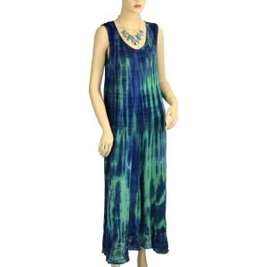 wholesale Long Summer Dresses 11740 Green-Blue (MB) -