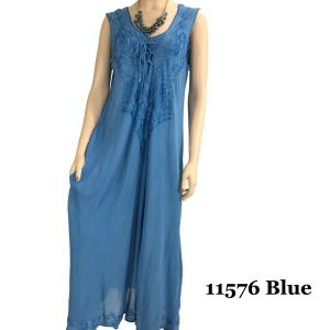 wholesale Long Summer Dresses 11576 Blue (MB) -