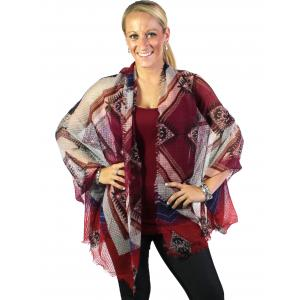 Big Scarves/Shawls - 1397 Red Wine -