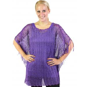 wholesale Poncho - Fishnet Metallic 6604 & 6608 Purple (#01) -