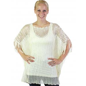 wholesale Poncho - Fishnet Metallic 6604 & 6608 Beige (#02) -