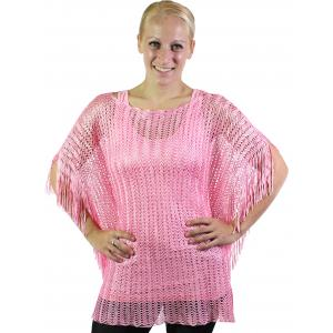 wholesale Poncho - Fishnet Metallic 6604 & 6608 Rose (#03) -
