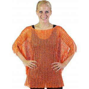 wholesale Poncho - Fishnet Metallic 6604 & 6608 Orange (#04) -