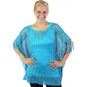 wholesale Poncho - Fishnet Metallic 6604 & 6608 Turquoise (#05) -