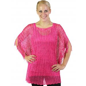 wholesale Poncho - Fishnet Metallic 6604 & 6608 Magenta (#10) -