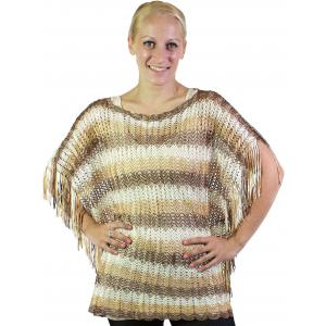 wholesale Poncho - Fishnet Metallic 6604 & 6608 Brown-Camel-Beige Horizontal Stripe -