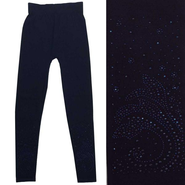 Wholesale Jeweled Leggings #08 Navy w/ Navy Jewels - One Size Fits All