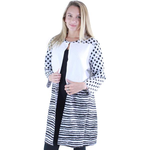 wholesale Art Crush - Swing Jacket Polka Dot/Stripe - White -