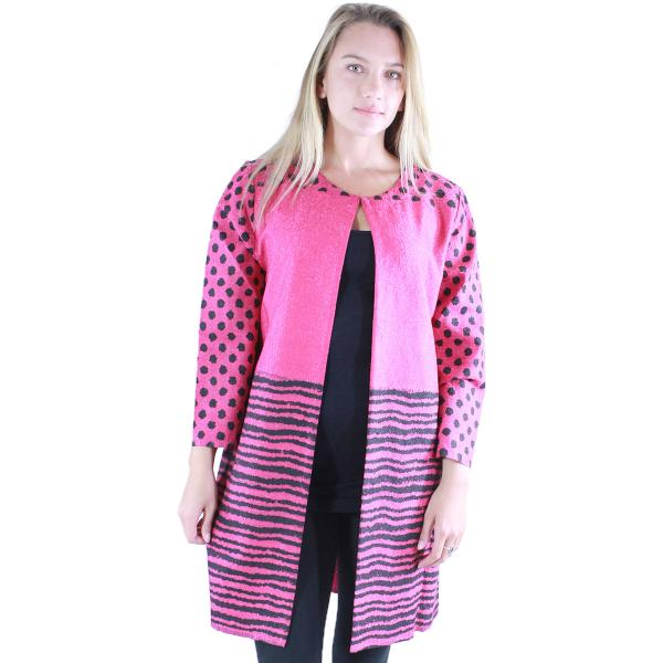 wholesale Art Crush - Swing Jacket Polka Dot/Stripe - Fuchsia -