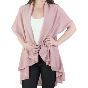 Wholesale  Dusty Pink Cape - Circle Cut Solid PN272 (Style 1) -