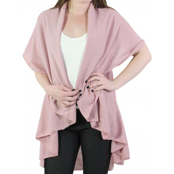 Vest/Cape - Circle Cut Solid PN272 (Style 1) Dusty Pink Cape - Circle Cut Solid PN272 (Style 1) -