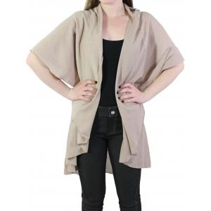 Wholesale  Tan Cape - Circle Cut Solid PN272 (Style 1) -