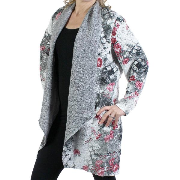 wholesale Art Crush Cardigan - Prints - Woman Size White-Black-Pink Floral -