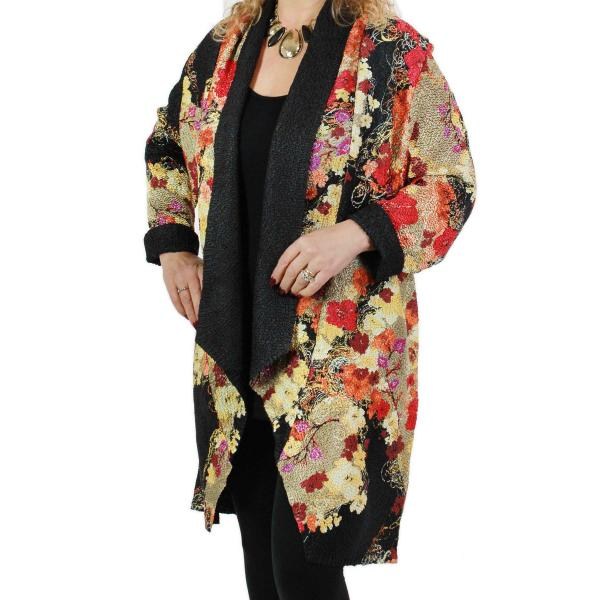 wholesale Art Crush Cardigan - Prints - Woman Size Earthtone Floral -