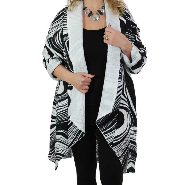 wholesale Art Crush Cardigan - Prints - Woman Size #1062 Black and White* -