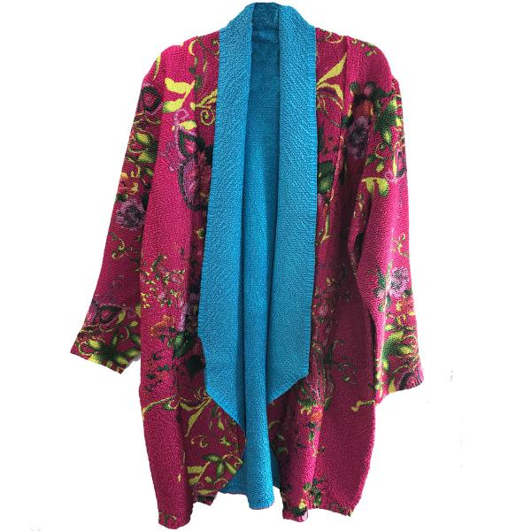 wholesale Art Crush Cardigan - Prints - Woman Size #1065 Hot Pink -