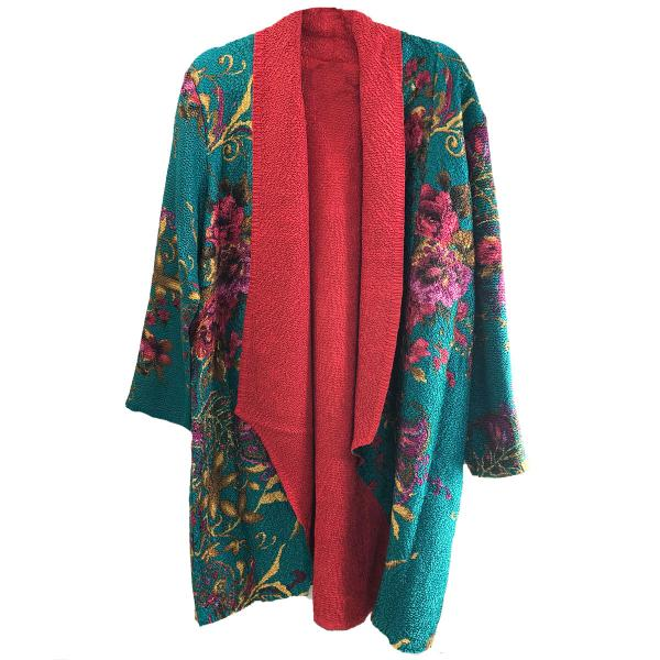 wholesale Art Crush Cardigan - Prints - Woman Size #1065 Teal -