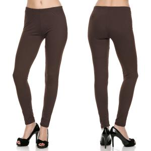 Brown Brushed Fiber Leggings - Ankle Length Solids - Plus Size (XL-2X)