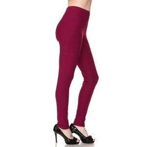 Metallic Print Shawls with Buttons Burgundy Brushed Fiber Leggings - Ankle Length Solids - Plus Size (XL-2X)