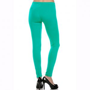 wholesale Brushed Fiber Leggings - Ankle Length Solids SOL0S Mint Brushed Fiber Leggings - Ankle Length Solids - One Size Fits All