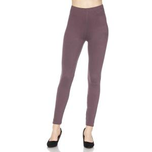 wholesale Brushed Fiber Leggings - Ankle Length Solids SOL0S Violet Brushed Fiber Leggings - Ankle Length Solids  - One Size Fits All