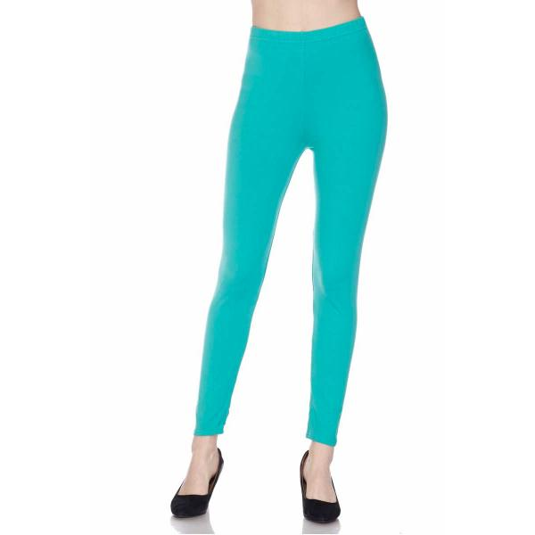 Brushed Fiber Leggings - Ankle Length Solids SOL0S Jade Brushed Fiber Leggings - Ankle Length Solids - One Size Fits All