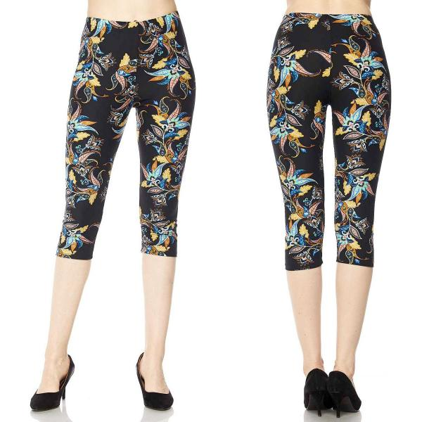Brushed Fiber Leggings-Capri Length Prints SOL0CP J064 Fantasia Print (MB) - One Size Fits All