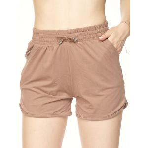 Brushed Fiber Shorts  Solid Mocha - S-M