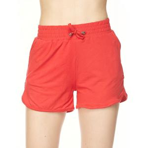 Brushed Fiber Shorts  Solid Red - S-M