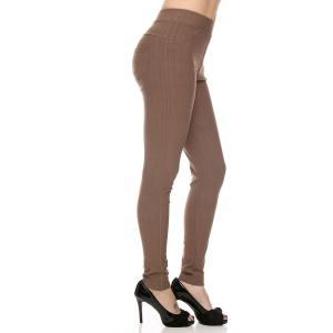 Mocha Denim Leggings - Ankle Length J04  - 4-12