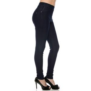 Navy Denim Leggings - Ankle Length J04 - 4-12