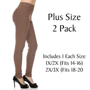 Metallic Print Shawls with Buttons Mocha Plus 2 Pack Denim Leggings - Ankle Length J04  - 1 (Fits 14-16) 1 (Fits 18-20)
