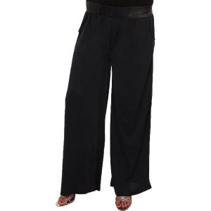 Wholesale  Solid Navy Wide Leg Leisure Pants -