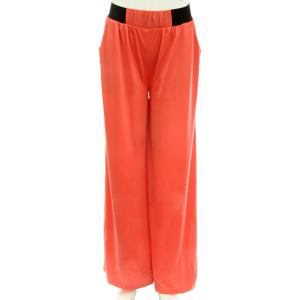 Wholesale  Solid Coral Wide Leg Leisure Pants -