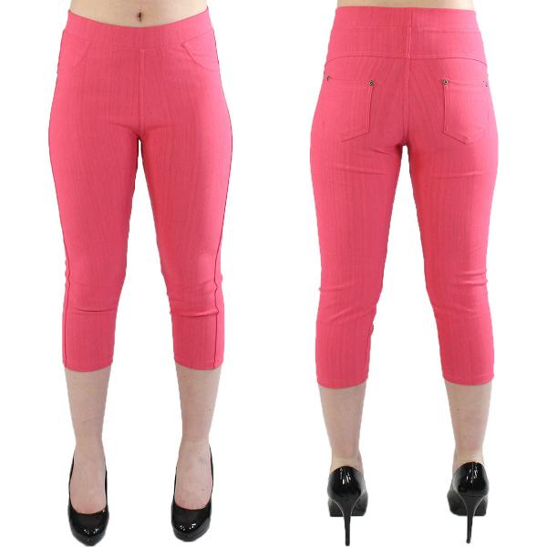 wholesale Denim Leggings - Capri Length w/ Back Pockets J04 Coral Denim Leggings - Capri Length J04 - 4-12