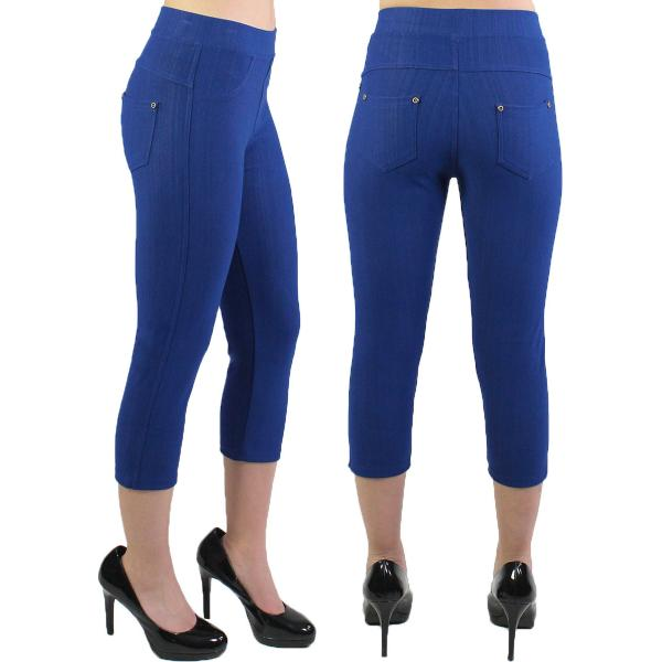Denim Leggings - Capri Length w/ Back Pockets J04 Royal Plus (Fits 18-20) - 2X