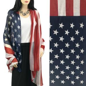wholesale Scarves - American Flag Designs American Flag Scarf 9418 -