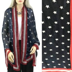 wholesale Scarves - American Flag Designs American Flag Scarf 9416 -
