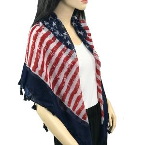 Scarves - American Flag Designs American Flag Square with Tassels -