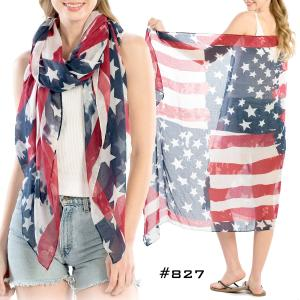Wholesale  American Flag Scarf #827 -