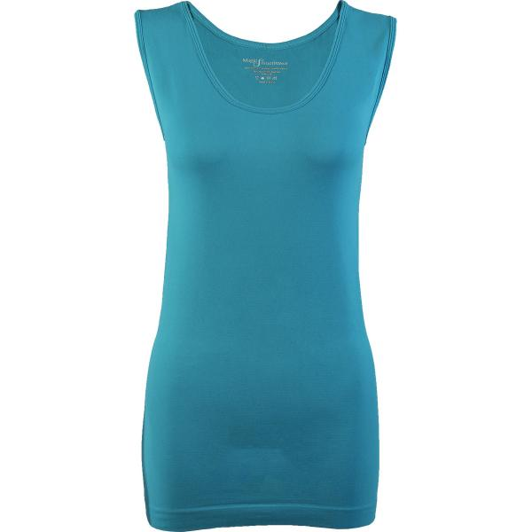 Magic SmoothWear Tanks & Sleeveless   Aqua Sleeveless - One Size Fits (S-XL) Sleeveless