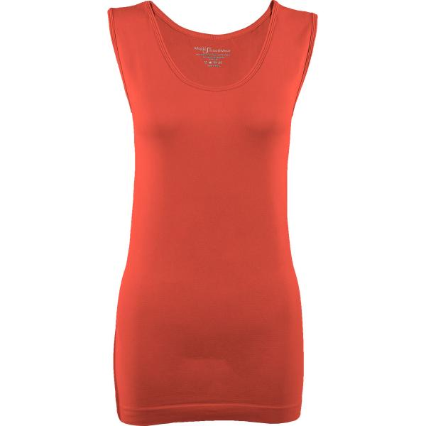 Magic SmoothWear Tanks & Sleeveless   Coral Sleeveless - One Size Fits (S-XL) Sleeveless