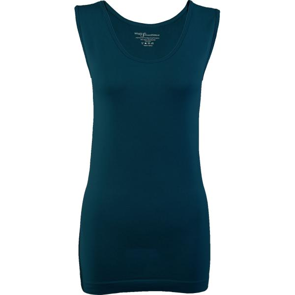 Magic SmoothWear Tanks & Sleeveless   Dark Teal Sleeveless - One Size Fits (S-XL) Sleeveless