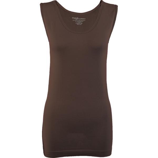 Magic SmoothWear Tanks & Sleeveless   Espresso Sleeveless - One Size Fits (S-XL) Sleeveless