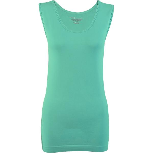 Magic SmoothWear Tanks & Sleeveless   Mint Sleeveless - One Size Fits (S-XL) Sleeveless