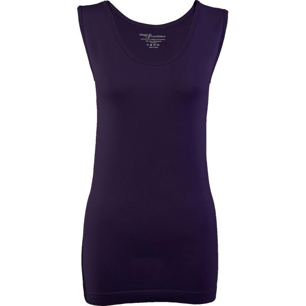 Magic SmoothWear Tanks & Sleeveless   Plum Sleeveless - One Size Fits (S-XL) Sleeveless