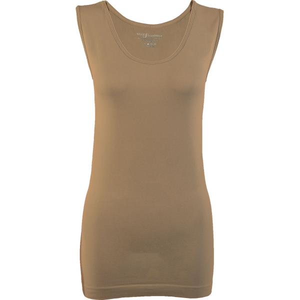 Magic SmoothWear Tanks & Sleeveless   Taupe Sleeveless - One Size Fits (S-XL) Sleeveless
