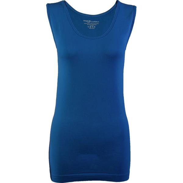 Magic SmoothWear Tanks & Sleeveless   Teal Blue Sleeveless - One Size Fits (S-XL) Sleeveless